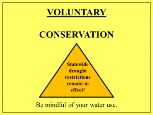 Voluntary Conservation & State door sign