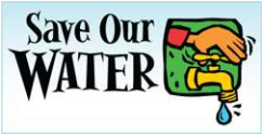 Save our water button