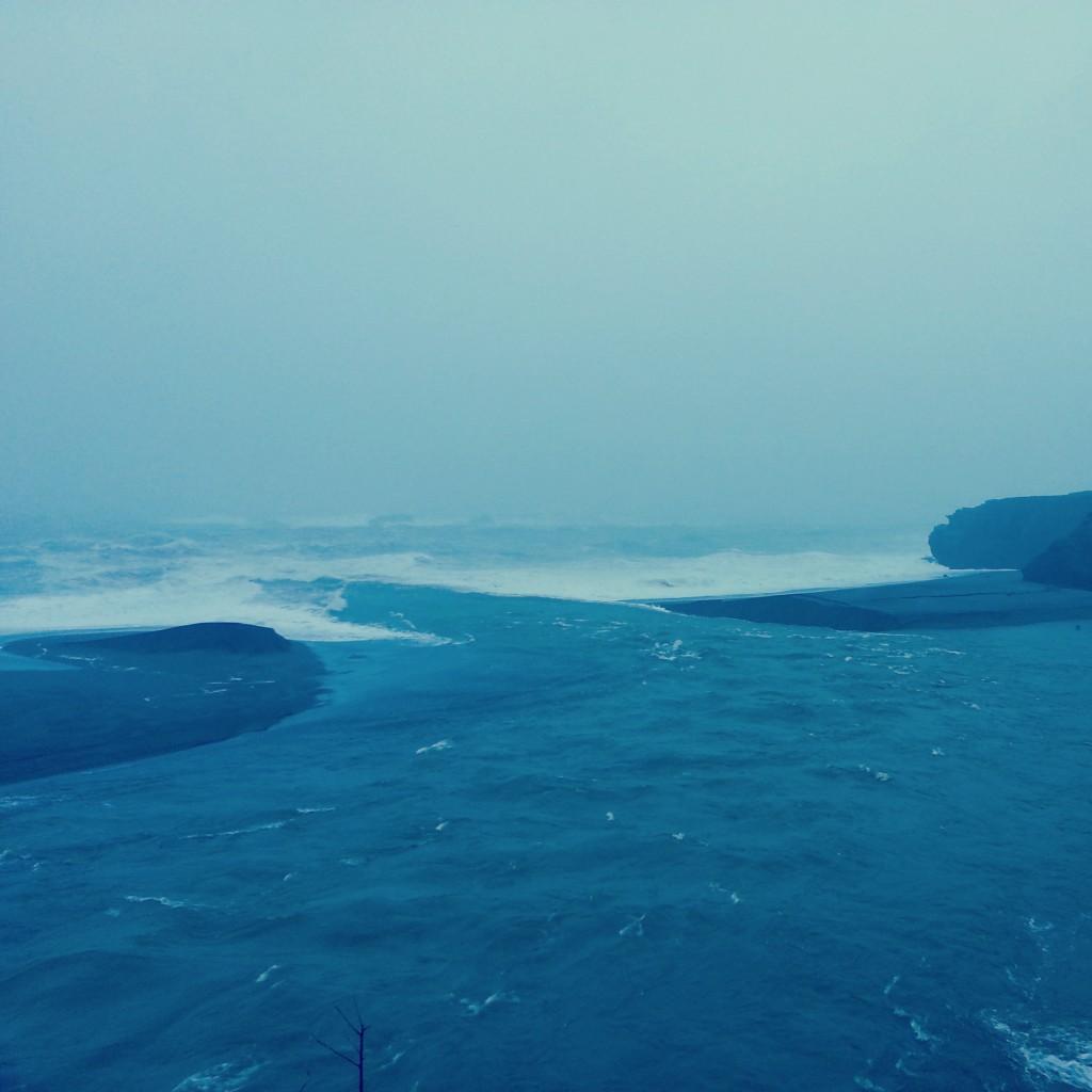River opening to ocean